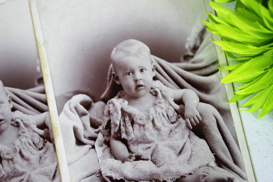 Vintage 1900s Edwardian Baby Photograph
