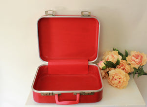 Vintage 1960s Red Child's Suitcase