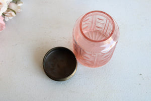 Vintage 1990s Pink Glass Jar