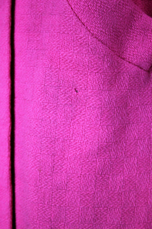 Vintage 1960s Pink Wool Winter Overcoat
