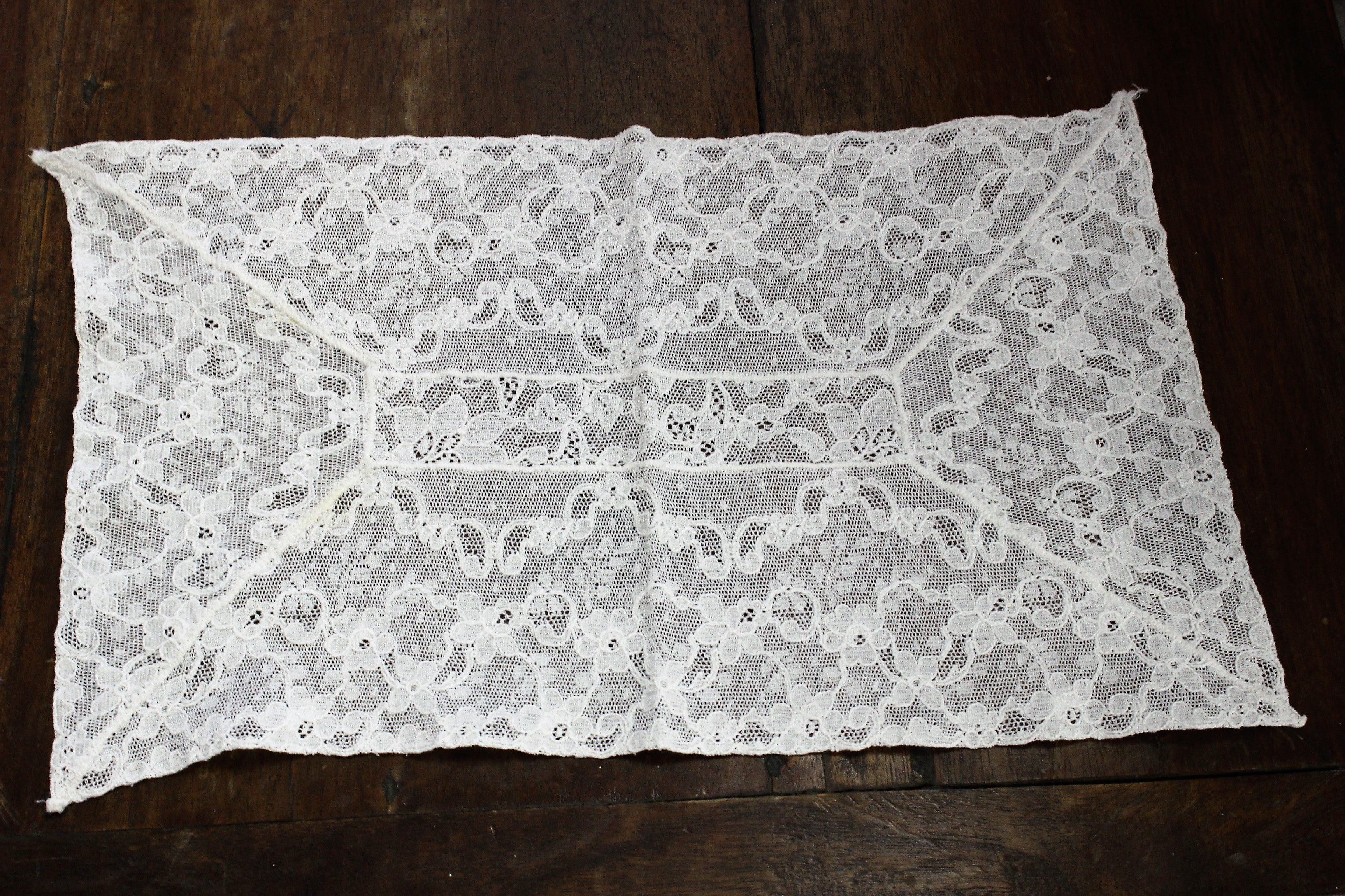 Vintage White Lace Rectangle Doily