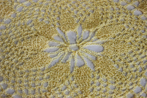 Vintage Crochet Doily in Yellow