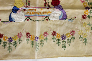 Vintage 1980s Embroidery Sampler Finished with Megans Room