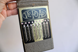 Vintage 1940s  Ve Po Ad Pocket Calculator