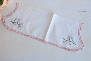 Vintage Embroidered Set of Three Sofa Covers