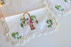 Vintage 1950s Chair Cover Doilies