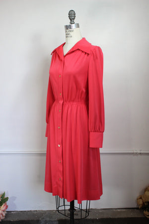 Vintage 1970s Shirtwaist Dress by Plaza South