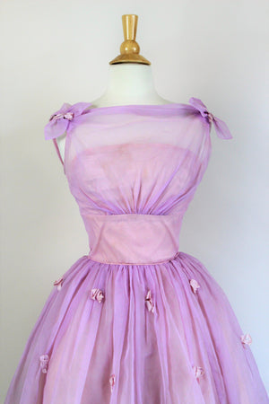 Vintage 1960s Fairytale Dream Dress in Lavender Pink, by Aldens