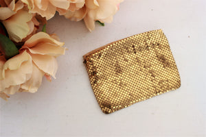 Vintage 1930s Gold Mesh Clutch or Larger Coin Purse