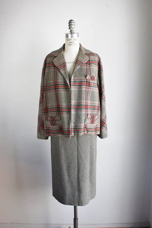 Vintage 1950s 1960s Wool Tweed Suit