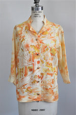 Vintage 1970's Novelty Paris Print Shirt by Lee Mar
