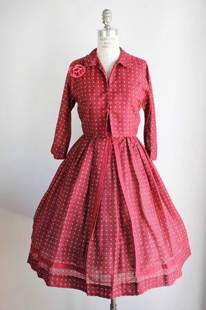 Vintage 1950s Dress With Jacket by Jonathan Logan