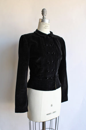 Vintage 1940s 1950s New Look Velvet Jacket by Nona Originals