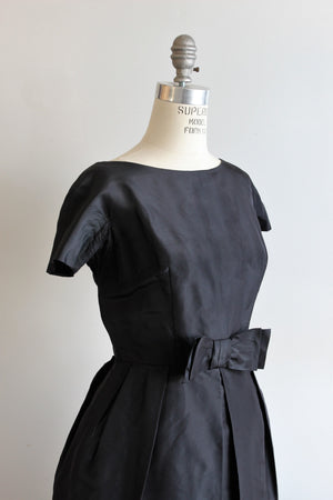 Vintage 1960s Black dress, by Petite Couture Miss Bergdorf, Designed in Paris