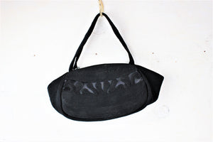 Vintage 1940s Black Corde Purse by Roum