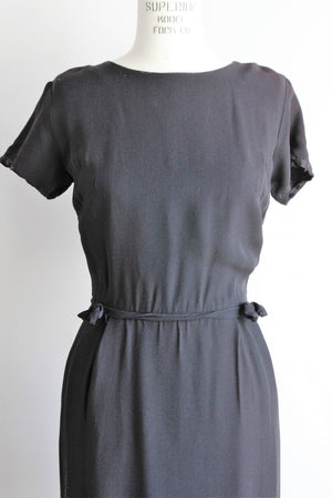 CLEARANCE: Vintage 1950s Little Black Dress With Bows