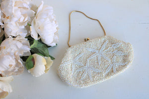 Vintage 1960s Beaded and Sequined Clutch Bag