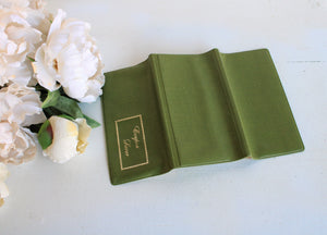 Vintage 1960s Avocado Green Vinyl Coupon Wallet