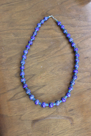 Vintage Venetian Murano Glass Bead Necklace