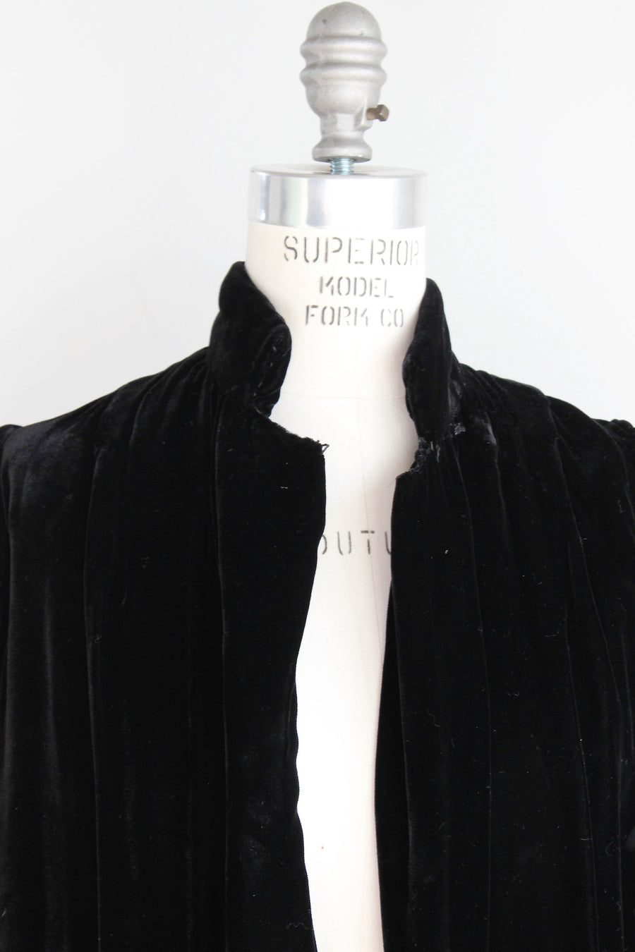 Vintage 1960s Black Velvet Quilted Opera Coat, Short Evening Cocktail Jacket