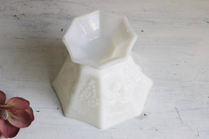 Vintage Mid Century Milk Glass Candy Dish,Grapevine Milkglass