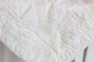 Vintage 1970s Holly Hobby Embroidered Baby Blanket