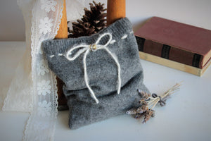 Knitted Lavender Filled Cashmere Comfort or Dream Pillow