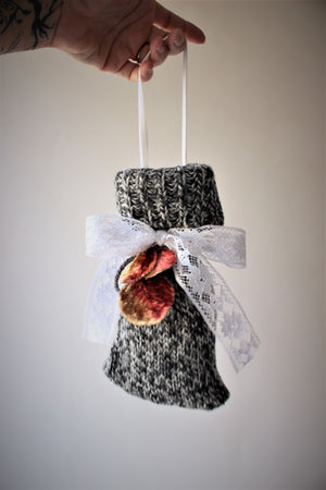 Knitted Lavender Filled Hanging Sachet