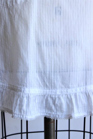 Antique Victorian White Cotton Apron
