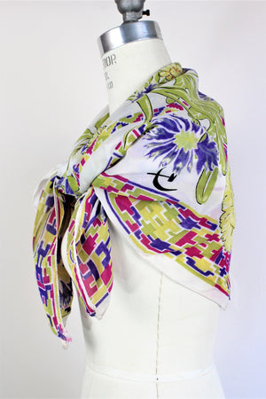 Vintage 1940s Novelty Print Collectible Scarf