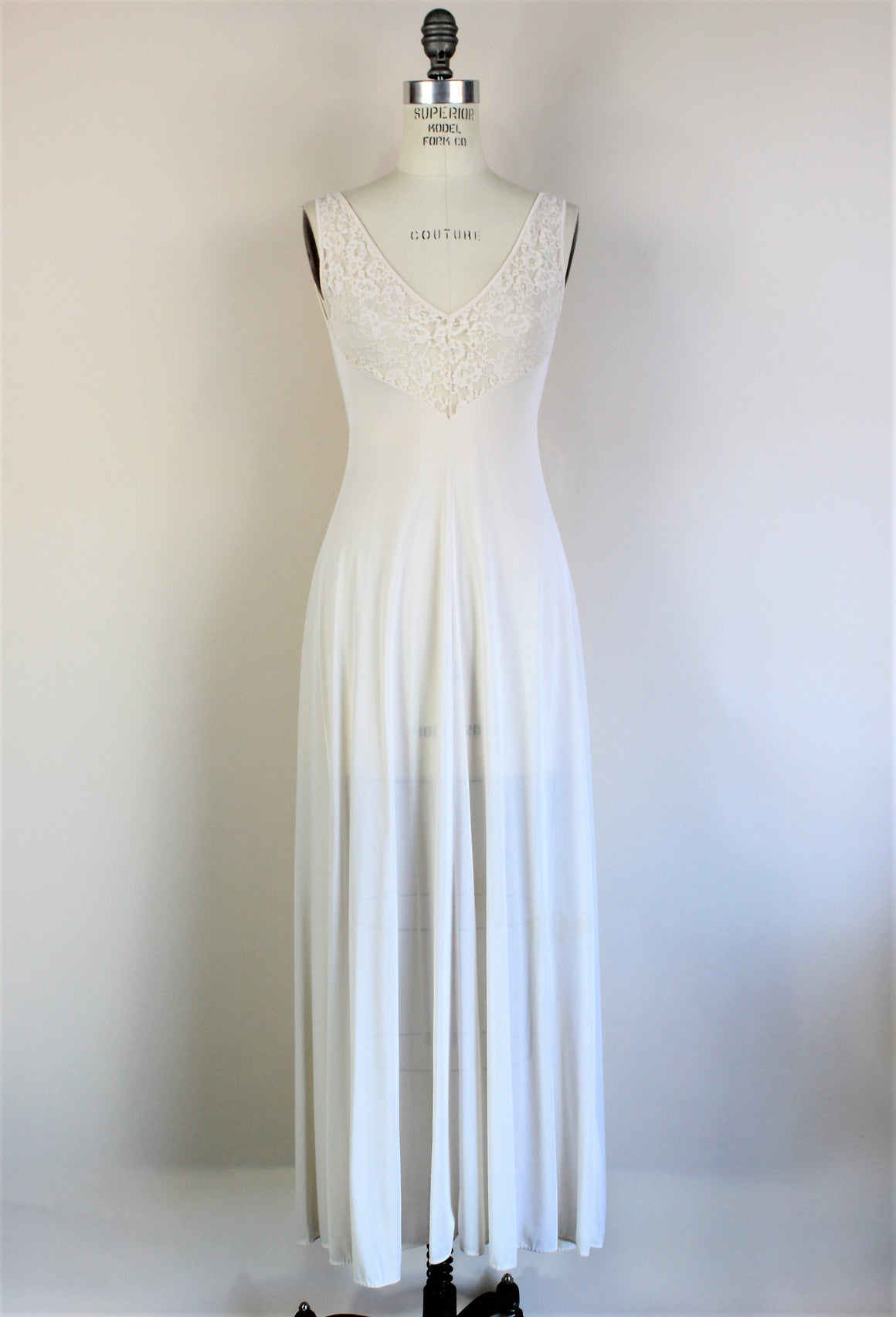Vintage 1970s White Nightgown By Olga