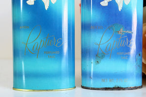 Vintage 1960s Avon Rapture Perfumed Talc Powder