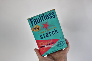 Vintage 1940s Faultless Starch Box Faultless, Unopened New