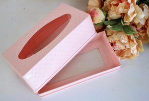 Vintage 1950s Pink Plastic Tissue Holder