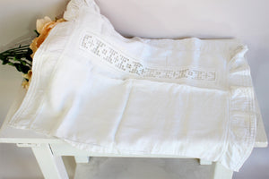 Antique Edwardian 1910s Pillow Case