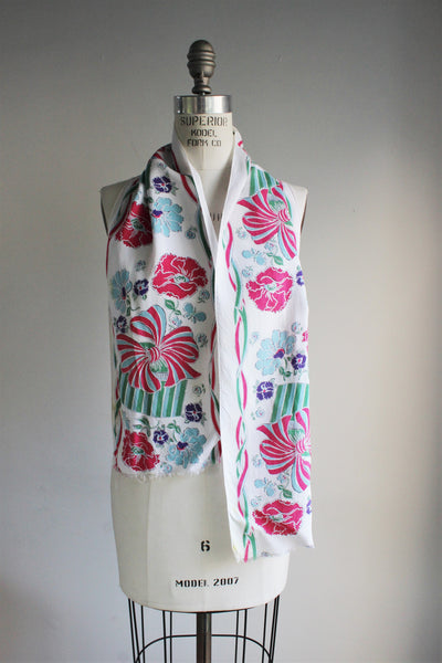 Vintage 1950s Long Scarf