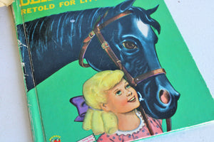 Vintage 1950s Black Beauty Book, Illustrated and Edited For Children