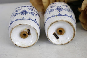 Vintage Blue and White Japanese Salt and Pepper Shaker