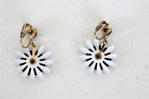 Vintage 1960s Sunflower Earrings