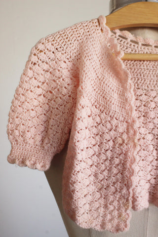 Vintage 1950s Baby Girls Cardigan Sweater
