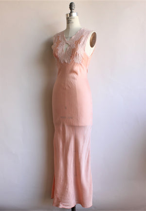 Vintage 1930s Blush Silk Nightgown by Arghin