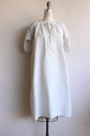 Victorian White Linen Nightgown