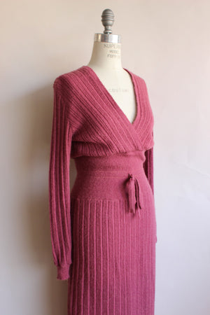 Vintage 1970s Mauve Knitt Dress