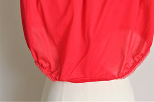 Vintage 1970s JC Penneys Gaymode High Waisted Red Nylon Panty