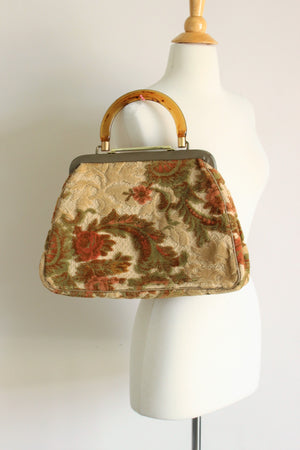 Vintage 1960s Carpetbag Purse, JR USA ( Jules Resnick)