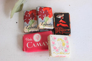 Vintage 1950s Travel Soaps ( and a sachet too!)