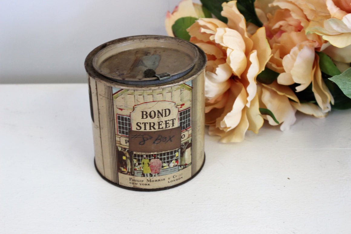 Vintage 1940s Tobacco Tin, Bond Street