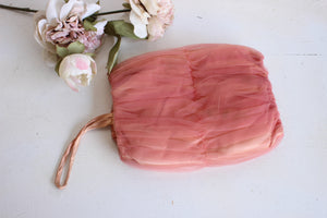 Vintage 1950s Satin And Tulle Muff