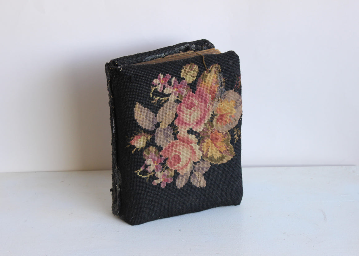 Antique Victoran Photo Album with Needlepoint Cover