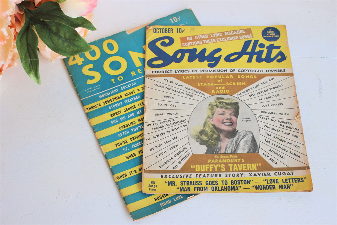 Vintage 1940s Song Magazines